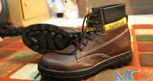 Sepatu Safety CaterPillar Coklat Tua